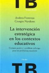 La Intervención estratégica en los contextos educativos - Giorgio Nardone - Herder