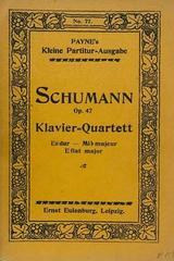 Klavier quartet ES dur op. 47 - Schumann -  AA.VV. - Otras editoriales