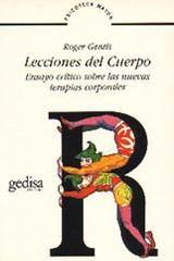 Lecciones del cuerpo - Roger Gentis - Editorial Gedisa
