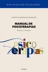 Manual de psicoterapias - Alberto Rodríguez Morejón - Herder