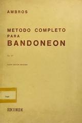 Método completo para bandoneón - Ambros -  AA.VV. - Otras editoriales