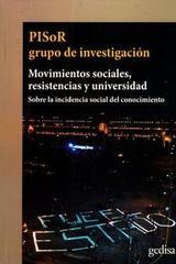 Movimientos Sociales, Resistencias Y Universidad -  AA.VV. - Editorial Gedisa