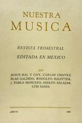 Nuestra música (reimpresión facsimilar) -  AA.VV. - Otras editoriales