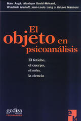 El objeto en psicoanálisis -  AA.VV. - Editorial Gedisa