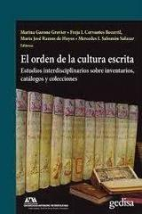 El orden de la cultura escrita -  AA.VV. - Editorial Gedisa
