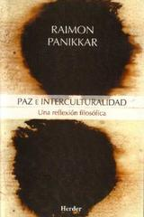 Paz e interculturalidad - Raimon Panikkar - Herder