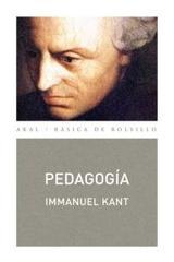 Pedagogía - Immanuel Kant - Akal