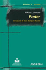 Poder - Niklas  Luhmann - Anthropos