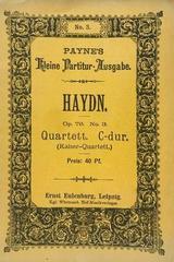 Quartet C dur opus 76 no. 3 (kaiser-quartett) - Haydn -  AA.VV. - Otras editoriales