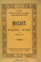 Quartett D moll  - Mozart -  AA.VV. - Otras editoriales