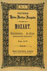 Quintet a dur (klarinetten-quintett.) - Mozart -  AA.VV. - Otras editoriales