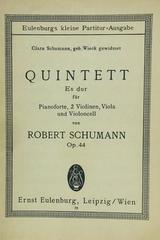 Quintett Es dur fur pianoforte, 2 violinen, viola und violoncell op. 44 - Robert Schumann -  AA.VV. - Otras editoriales
