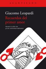 Recuerdos del primer amor - Giacomo Leopardi - Acantilado