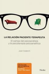 La Relacion Paciente-Terapeuta - Joan Coderch - Herder