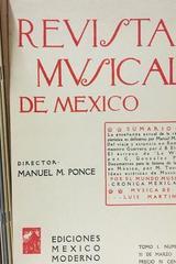 Revista musical de México (12 facsímiles) -  AA.VV. - Otras editoriales