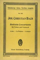 Sinfonia concertante für violine und violoncell A dur - Johann Christian Bach -  AA.VV. - Otras editoriales