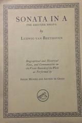 Sonata in A - Ludwig van Beethoven - Otras editoriales