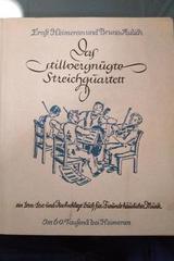 Stillvergnugte Streichquartett, Das (título en azul) - Bruno Aulich, Ernst Heimeran -  AA.VV. - Otras editoriales