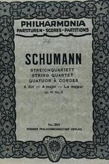 Streichquartett A dur - Schumann -  AA.VV. - Otras editoriales