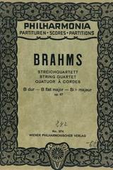 Streichquartett B dur - Brahms -  AA.VV. - Otras editoriales