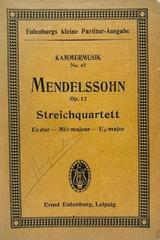 Streichquartett Es dur, op. 12 - Mendelssohn -  AA.VV. - Otras editoriales
