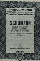 Streichquartett F dur op. 41 no. 2 - Schumann -  AA.VV. - Otras editoriales