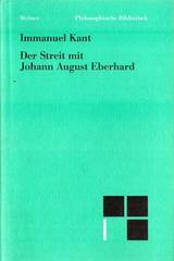 Der Streit mit Johann August Eberhard - Immanuel Kant - Otras editoriales