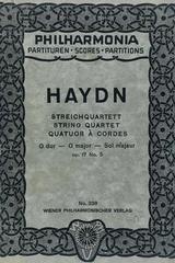 String quartet G major opus 17 no. 5  - Haydn -  AA.VV. - Otras editoriales
