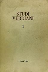 Studi Verdiani I -  AA.VV. - Otras editoriales