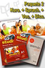 Studio d A1 Paquete 2 - Curso, Ejerc., Voc. Y Dic. -  AA.VV. - Cornelsen