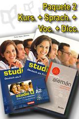 Studio d A2 Paquete 2 - Curso, Ejerc., Voc. Y Dic. -  AA.VV. - Cornelsen