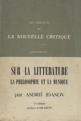 Sur la litterature, la philosophie et la musique - Andreï Jdanov - Otras editoriales