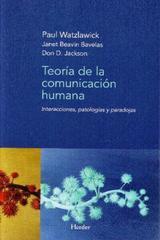 Teoría de la comunicación humana - Paul Watzlawick - Herder