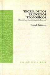 Teoría de los principios teológicos - Joseph Ratzinger - Herder