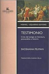 Testimonio - Shoshana Felman - Marmol izquierdo