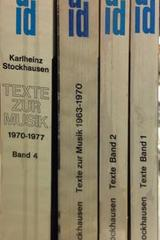 Texte - Karlheinz Stockhausen - Otras editoriales