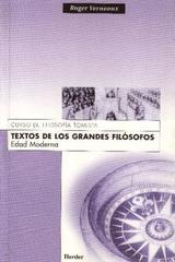 Textos de los grandes filósofos: Edad Moderna - Roger Verneaux - Herder