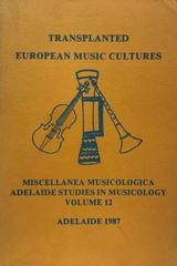Transplanted european music cultures -  AA.VV. - Otras editoriales