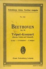 Tripelkonzert C dur, op. 56. Für klavier, violine und violoncell - Beethoven -  AA.VV. - Otras editoriales