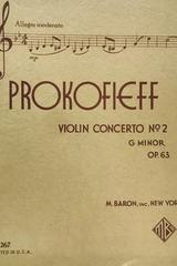Violin concerto no. 2 Gminor opus 63  - Prokofieff -  AA.VV. - Otras editoriales