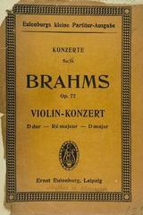 Violin konzert D dur, op. 77 - Brahms -  AA.VV. - Otras editoriales
