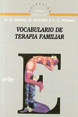 Vocabulario de terapia familiar -  AA.VV. - Editorial Gedisa