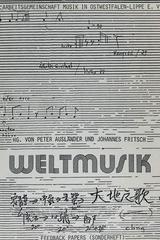 WELTMUSIK (2 Vol.) - Peter Auslander, Johannes Fritsch -  AA.VV. - Otras editoriales