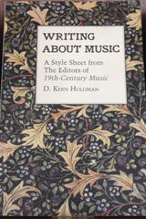 Writing About Music - Kern Holoman - Otras editoriales