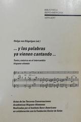 Y las palabras ya vienen cantando… -  Helga Von Kugelgen -  AA.VV. - Otras editoriales