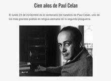 Cien años de Paul Celan