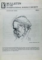 Bulletin of the International Kodaly Society 1982/2 -  AA.VV. - Otras editoriales