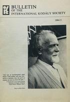Bulletin of the International Kodaly Society 1984/2 -  AA.VV. - Otras editoriales