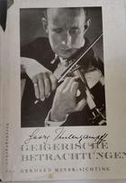Geigerische Berachtungen - Georg Kulenkampff -  AA.VV. - Otras editoriales