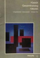 Klassik gesamtkatalog 1983/1984 -  AA.VV. - Otras editoriales